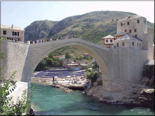 The Old Bridge Area of the Old City of Mostar