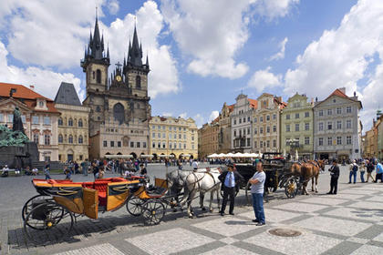 Astronomical Clock and Old Town Square in Prague