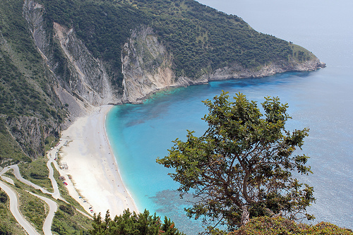 Myrtos Beach in Greece