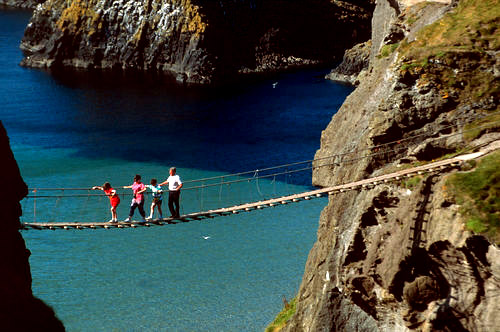 Carrick-a-Rede Rope Bridge, Antrim Northern Ireland