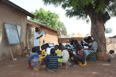 schools under tree in Ghana